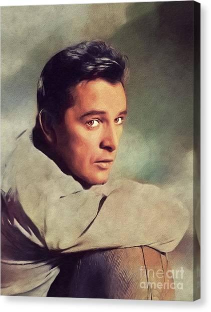 Burton Canvas Print - Richard Burton, Vintage Movie Legend by John Springfield