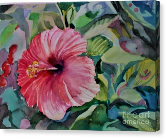 Canvas Print - Rose Of Sharon by Mindy Newman