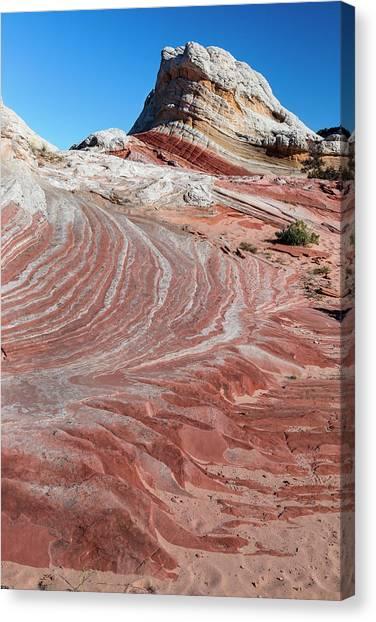 Sandstone Landscape, Vermillion Cliffs Canvas Print by Howie Garber