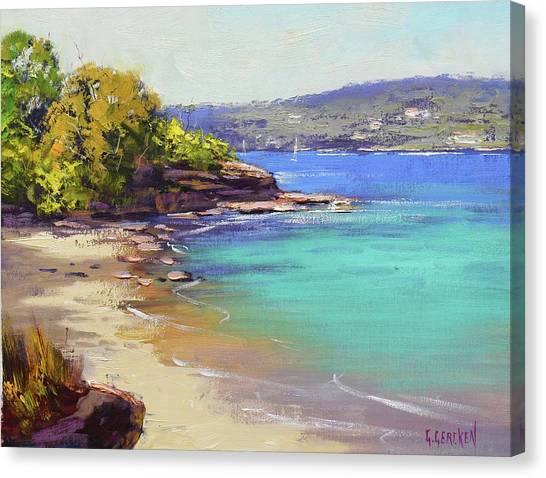 Harbour Canvas Print - Sydney Harbour Beach by Graham Gercken