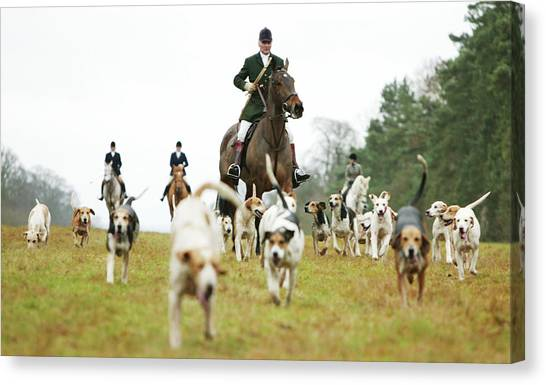 The Beaufort Hunt, Gloucestershire Canvas Print by Brent Stirton