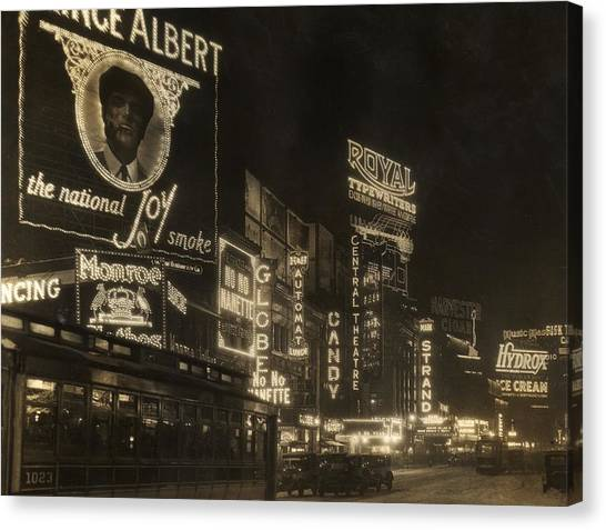 Times Square Canvas Print by Edwin Levick