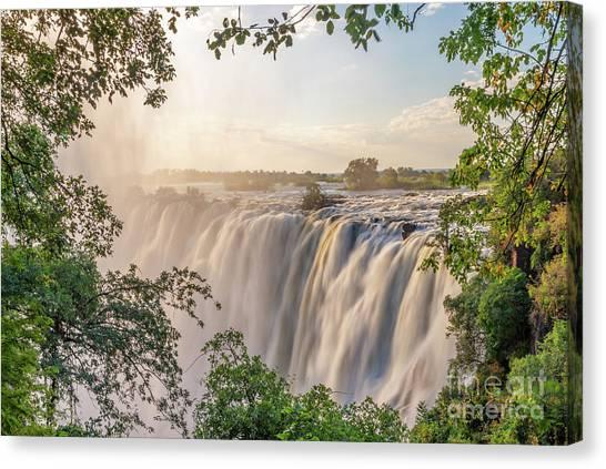 Victoria Falls Canvas Print - Victoria Falls by Delphimages Photo Creations