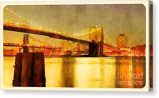 Water Color New York City Scene Canvas Print by Trentemoller