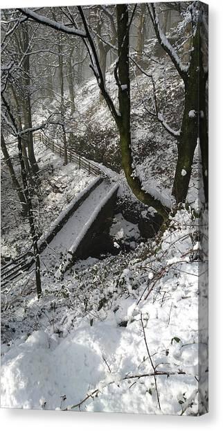 30/01/19  Rivington. Cascade Bridge. Canvas Print