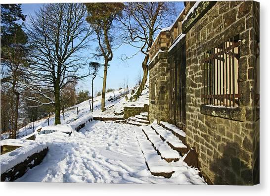 30/01/19  Rivington. Summerhouse In The Snow. Canvas Print