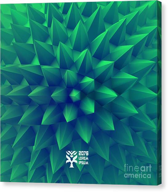 Molecule Canvas Print - 3d Abstract Background. Vector by Login