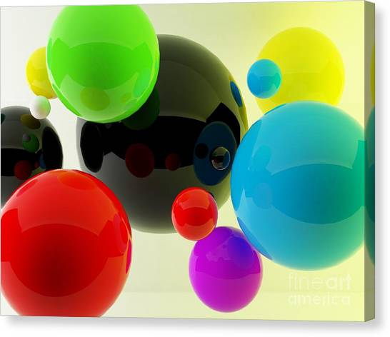 See Canvas Print - 3d Balls by Oldm