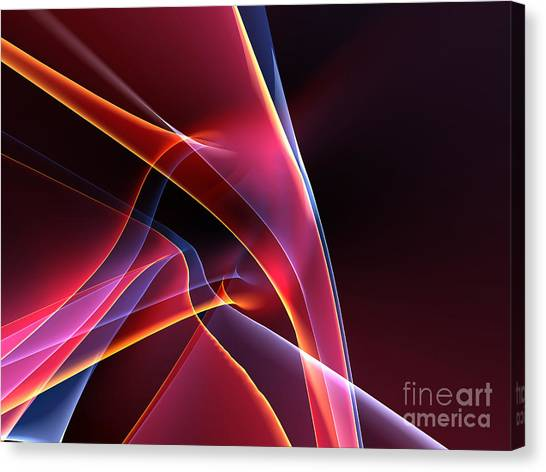 Form Canvas Print - 3d Rendered Backgrounds by Esolbiz