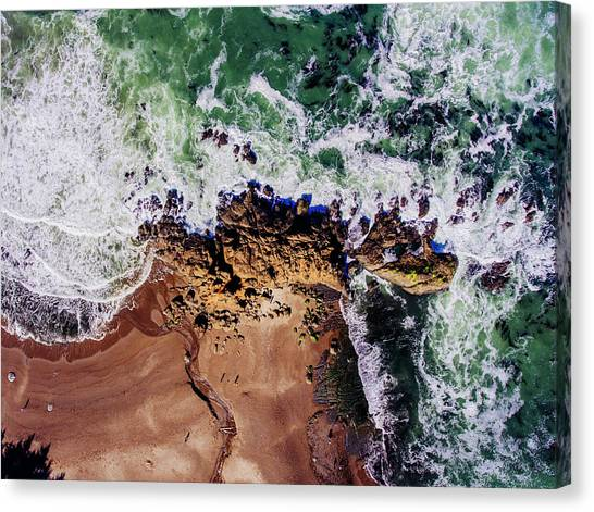 Canvas Print - Aerial View Of The Beach, Newport by Panoramic Images