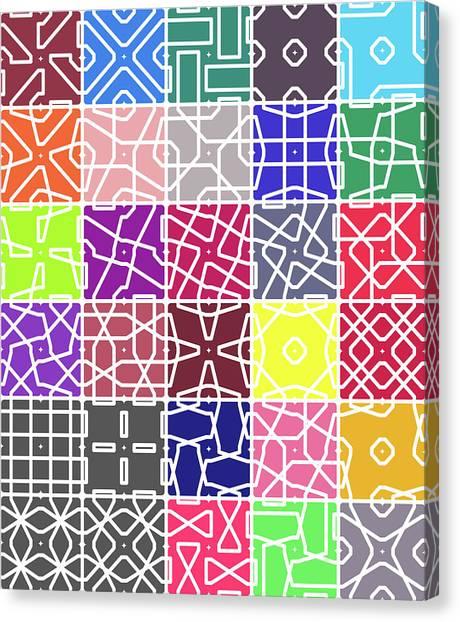 4 Connect 2 Grid Canvas Print