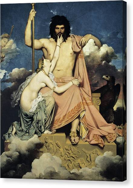God Of War Canvas Print - Jupiter And Thetis by Jean-Auguste-Dominique Ingres
