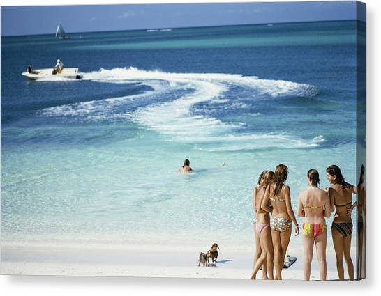 Lyford Cay Canvas Print by Slim Aarons