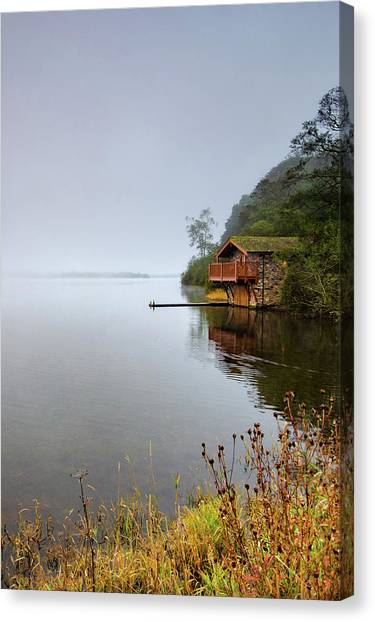 Duke University Canvas Print - Misty Ullswater by Smart Aviation