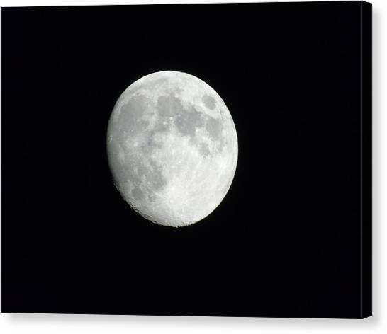 Satellite Canvas Print - Moonlight by Yohana Negusse