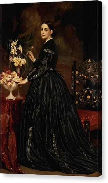Wedding Bouquet Canvas Print - Mrs. James Guthrie by Frederic Leighton