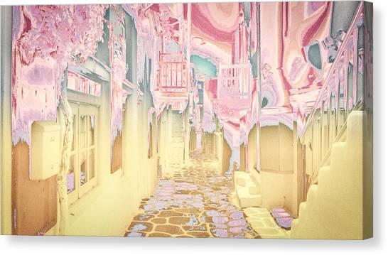 Mykonos - Alley Canvas Print