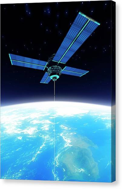 Space Elevator, Artwork Canvas Print by Victor Habbick Visions
