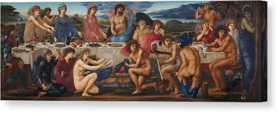 God Of War Canvas Print - The Feast Of Peleus by Edward Burne-Jones