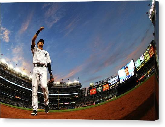 Toronto Blue Jays V New York Yankees - Canvas Print by Al Bello
