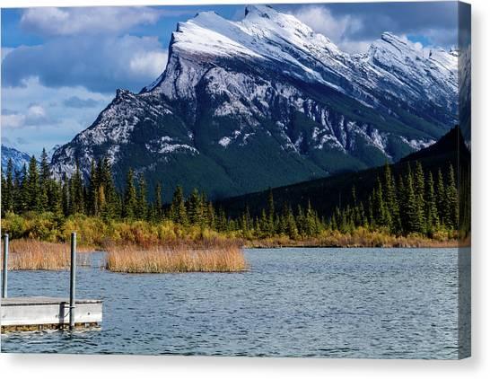 Vermillion Lakes, Banff National Park, Alberta, Canada Canvas Print
