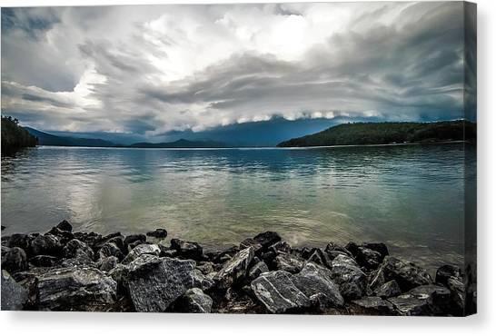 Canvas Print featuring the photograph Scenery Around Lake Jocasse Gorge by Alex Grichenko