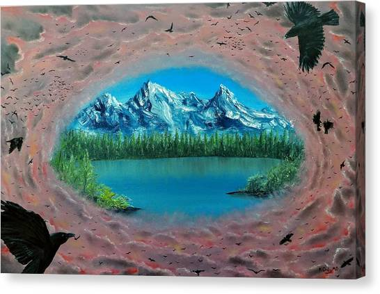 400 Crows Canvas Print