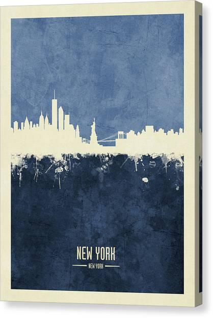New York Skyline Canvas Print - New York Skyline by Michael Tompsett