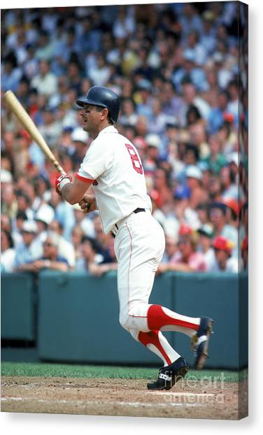Fenway Canvas Print - Mlb Photos Archive by Rich Pilling