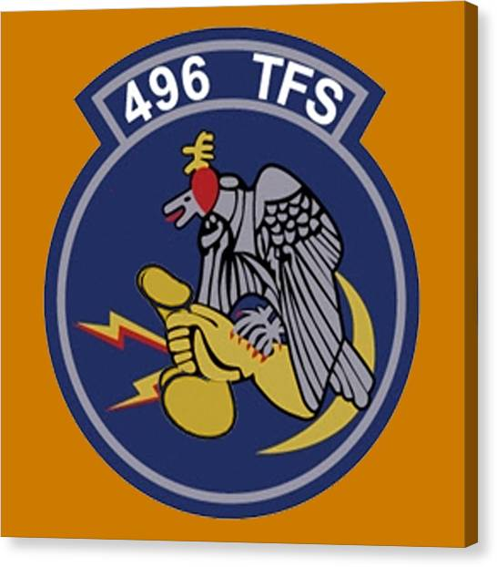 496th Tactical Fighter Squadron  Canvas Print