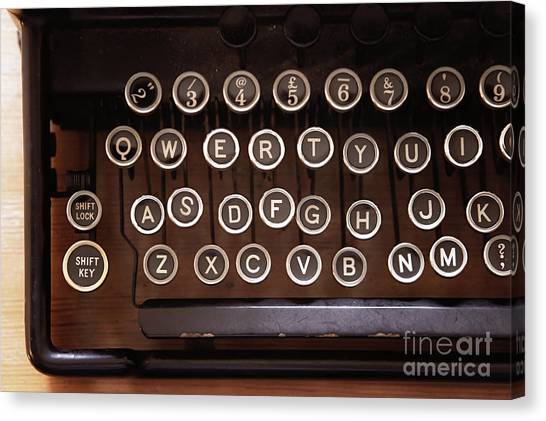 Canvas Print - A Vintage Typewriter by Tom Gowanlock