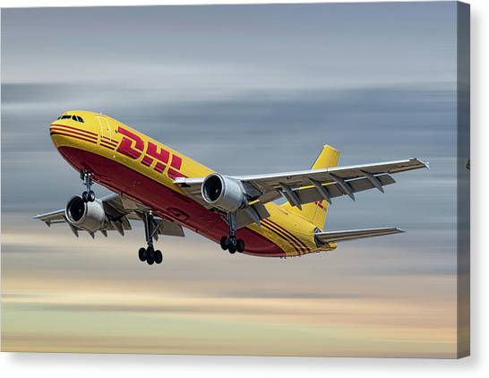 Cargo Canvas Print - Dhl Airbus A300-f4 by Smart Aviation