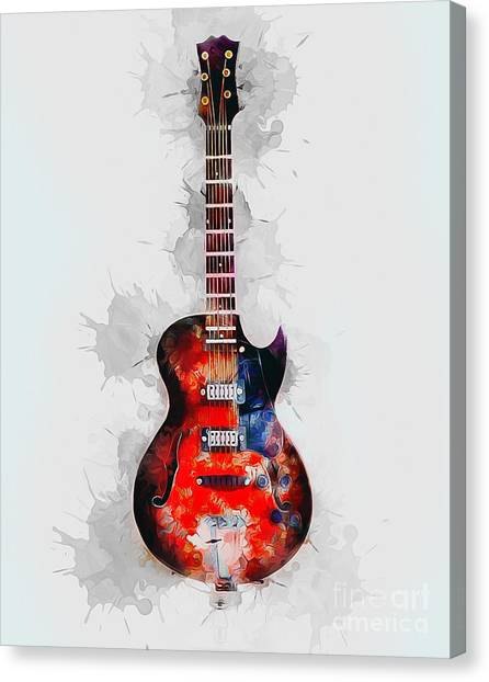 Guitar Picks Canvas Print - Electric Guitar by Ian Mitchell