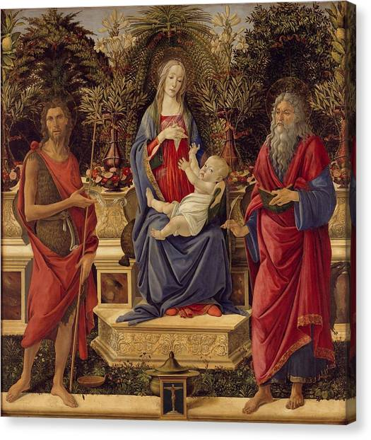 Botticelli Canvas Print - Madonna With Saints by Sandro Botticelli