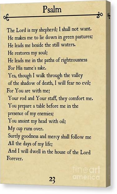Psalm 23-bible Verse Wall Art Collection Canvas Print