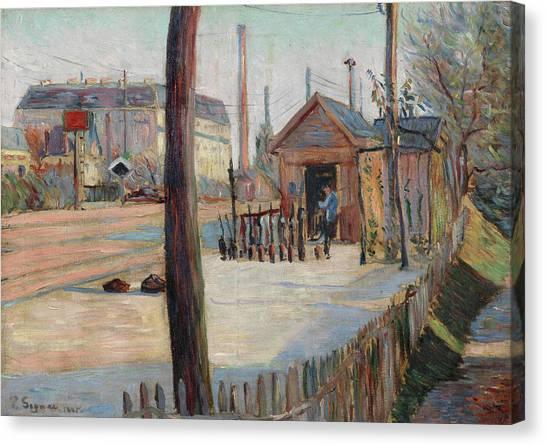 Signac Canvas Print - Railway Junction Near Bois-colombes by Paul Signac