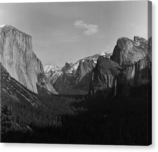 Bridal Canvas Print - Yosemite National Park In Winter by George Rose