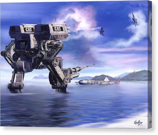 501st Mech Defender Canvas Print