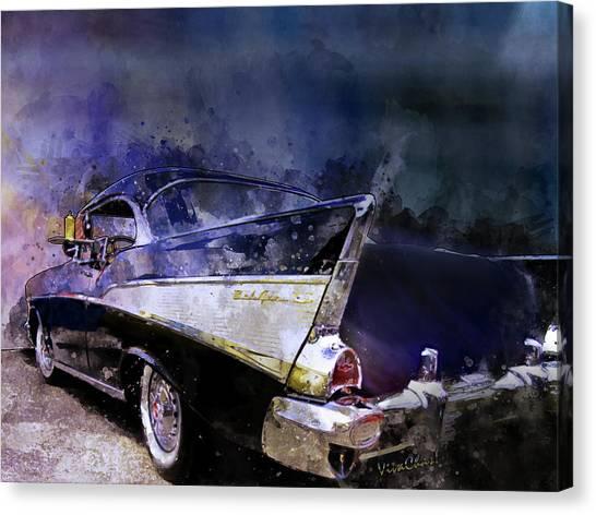 57 Belair Dragon Drivein Date Night Saturday Night Canvas Print