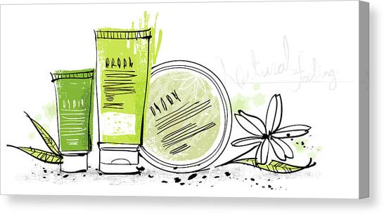 Cosmetics Canvas Print by Eastnine Inc.