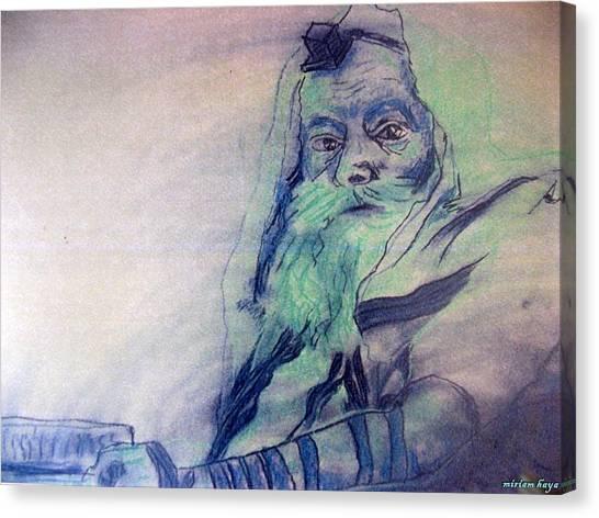 Lubavitcher Rebbe Canvas Print by Miriam haya Elbaz