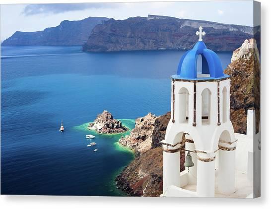 Orthodox Canvas Print - Santorini, Greece by Traveler1116