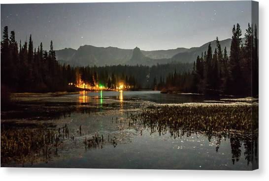 Canvas Print featuring the photograph Sierra National Park Mountains Near Mammoth Lakes Californit by Alex Grichenko