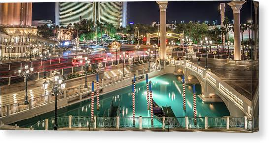 View Of The Venetian Hotel Resort And Casino Canvas Print