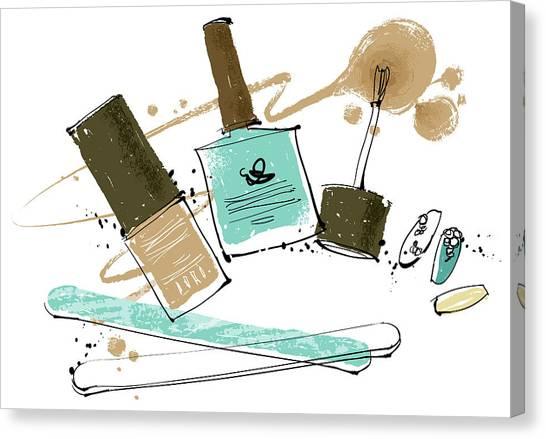 Cosmetics Canvas Print by Eastnine Inc.