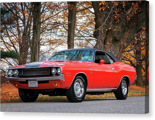 70 Dodge Challenger Rt - Driver Side Canvas Print