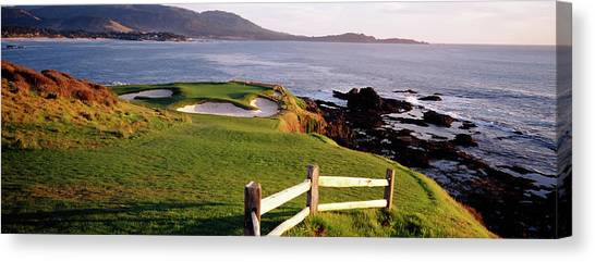 Canvas Print - 7th Hole At Pebble Beach Golf Links by Panoramic Images