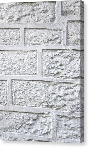 Canvas Print - White Brick Wall by Tom Gowanlock