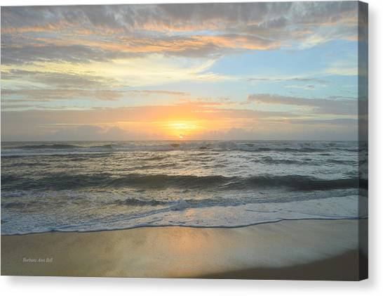 Canvas Print featuring the photograph 9/17/18 Obx Sunrise  by Barbara Ann Bell