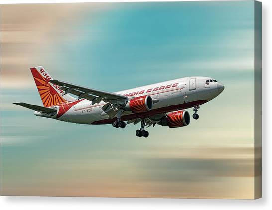 Cargo Canvas Print - Air India Cargo Airbus A310-304 by Smart Aviation